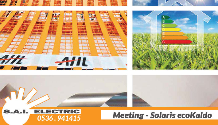 Riscaldamento elettrico a pavimento - SaiElectric - solaris italia ecokaldo